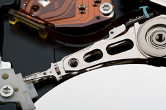 Hard disk drive closeup. Computer hard disk, it is photographed by close up Stock Images