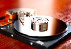 Hard Disk Drive closeup Royalty Free Stock Images
