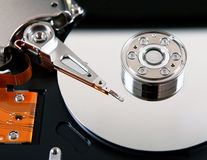 Hard Disk Drive closeup Royalty Free Stock Photography