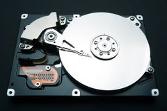 Hard disk drive of computer, data and information.  stock image