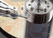 Hard disk drive. Concept. Stock Image