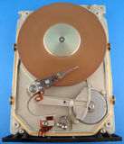 Hard disk drive without cover. Old MFM HDD without cover Royalty Free Stock Images