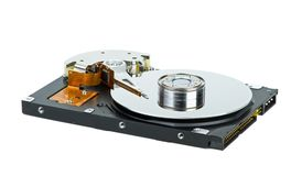 Hard disk drive with cover removed Royalty Free Stock Photo