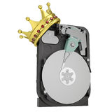 Hard disk drive with the crown Royalty Free Stock Photos