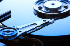 Hard disk drive detail. Background can use the Internet, print advertising and design Royalty Free Stock Photo