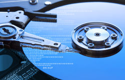 Hard disk drive detail. Background can use the Internet, print advertising and design Royalty Free Stock Photos