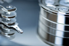 Hard disk drive, detail Royalty Free Stock Photo