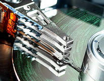 Hard disk drive detail. Close-up Royalty Free Stock Photo