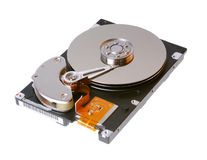 Hard disk Drive details (clipping path) Stock Photography