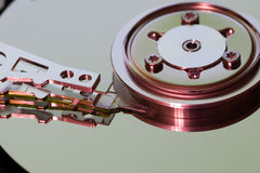 Hard disk drive (hdd). Hard disk drive - head and surfaces Stock Images