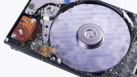 Hard disk drive (hdd) data loss concept stock video
