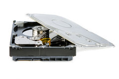 Hard disk drive (HDD) dismantle isolated Stock Photo