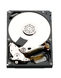 Hard disk drive hdd. Macro photo Stock Images