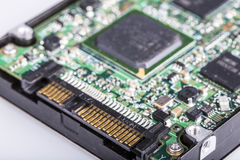 Hard disk drive HDD, SATA port Royalty Free Stock Images