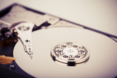 Hard disk drive HDD  on white background Stock Photos
