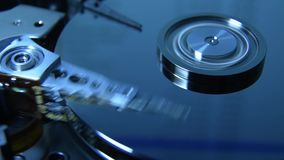 Hard disk drive reading head stock footage
