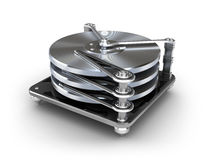 Hard disk drive icon Royalty Free Stock Photography