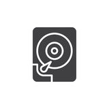 Hard disk drive icon vector, filled flat sign Royalty Free Stock Image