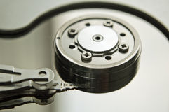 Hard disk drive inside Stock Image
