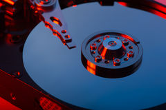 Hard Disk Drive. Inside of Hard Disk Drive Royalty Free Stock Images