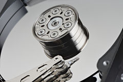 Hard disk drive inside Stock Photography