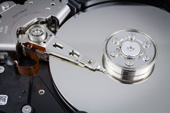 Hard disk drive inside Stock Images