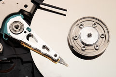 Hard disk drive inside. Stock Photography
