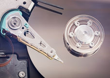Hard disk drive inside. Stock Photo
