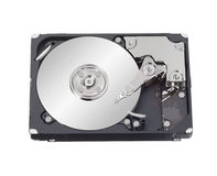 Hard disk drive inside Stock Photo