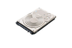 Hard disk drive inside isolated Royalty Free Stock Images