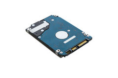 Hard disk drive inside isolated Stock Photos