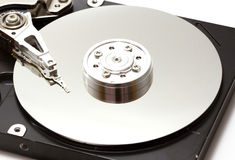 Hard disk drive inside. Macro style Royalty Free Stock Photos