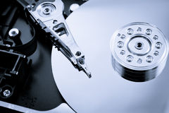 Hard disk drive inside studio shot close up Stock Image