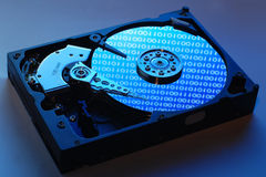 Hard Disk Drive insude Stock Photos