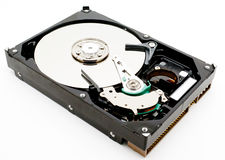 Hard disk drive internals Stock Photography