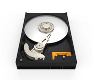 Hard Disk Drive. Isolated on white background. 3D render vector illustration
