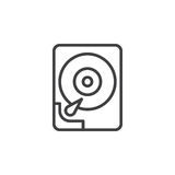 Hard disk drive line icon Royalty Free Stock Images