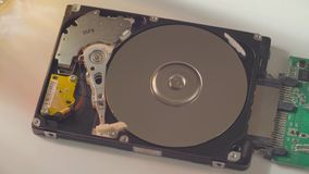 The hard disk drive stock footage