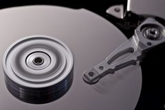 Hard disk drive in motion  (zero-seven) Royalty Free Stock Photos