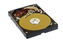Hard disk drive with an open lid royalty free stock images