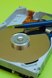 Hard Disk Drive - Pen Writing Royalty Free Stock Photography