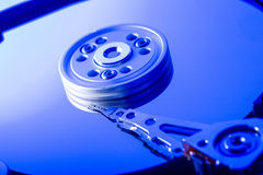 Hard disk drive plate Stock Photos