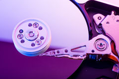 Hard disk drive plate Stock Photography