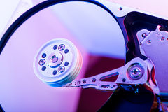 Hard disk drive plate Royalty Free Stock Photo