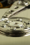 Hard Disk Drive Platter:  Inside a Hard Disk Drive (macro) Royalty Free Stock Photos