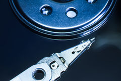 Hard disk drive read head. Hard disk drive read head hdd royalty free stock photography