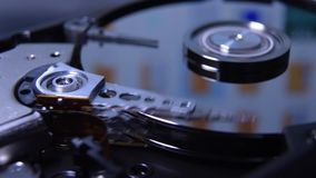 Hard disk drive reading head stock video footage