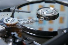 Hard disk drive reading head royalty free stock image