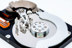 Hard disk drive repair and information recovery concept. Royalty Free Stock Photos