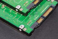 Hard disk drive sata controller. Connection interface stock photos